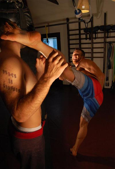 NJ Personal Trainer Head Kick Training